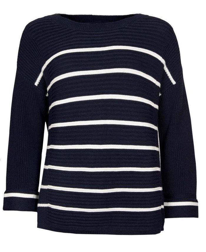 barbour birling knit navy jail dornoch
