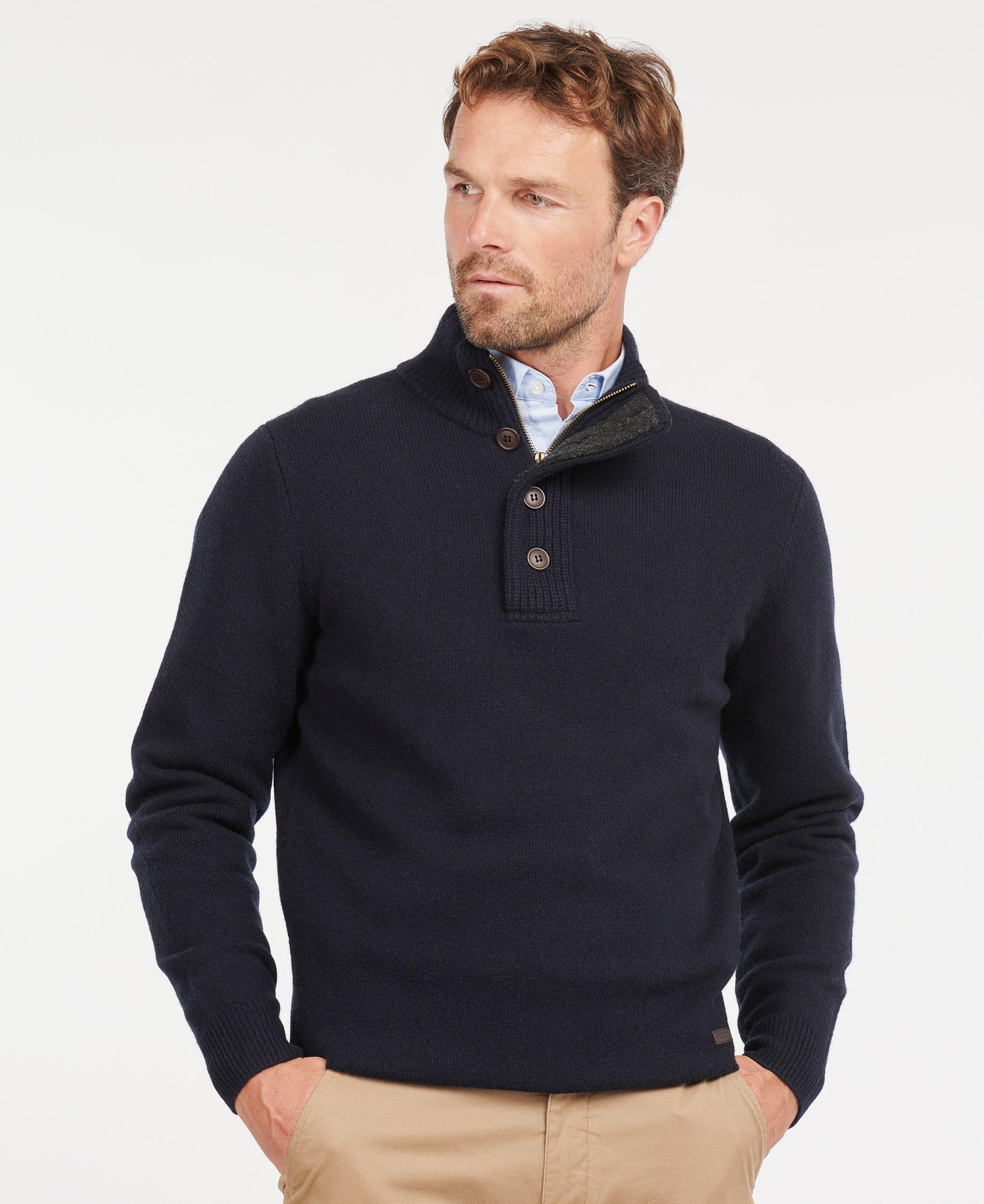 patch half zip sweater barbour jail dornoch