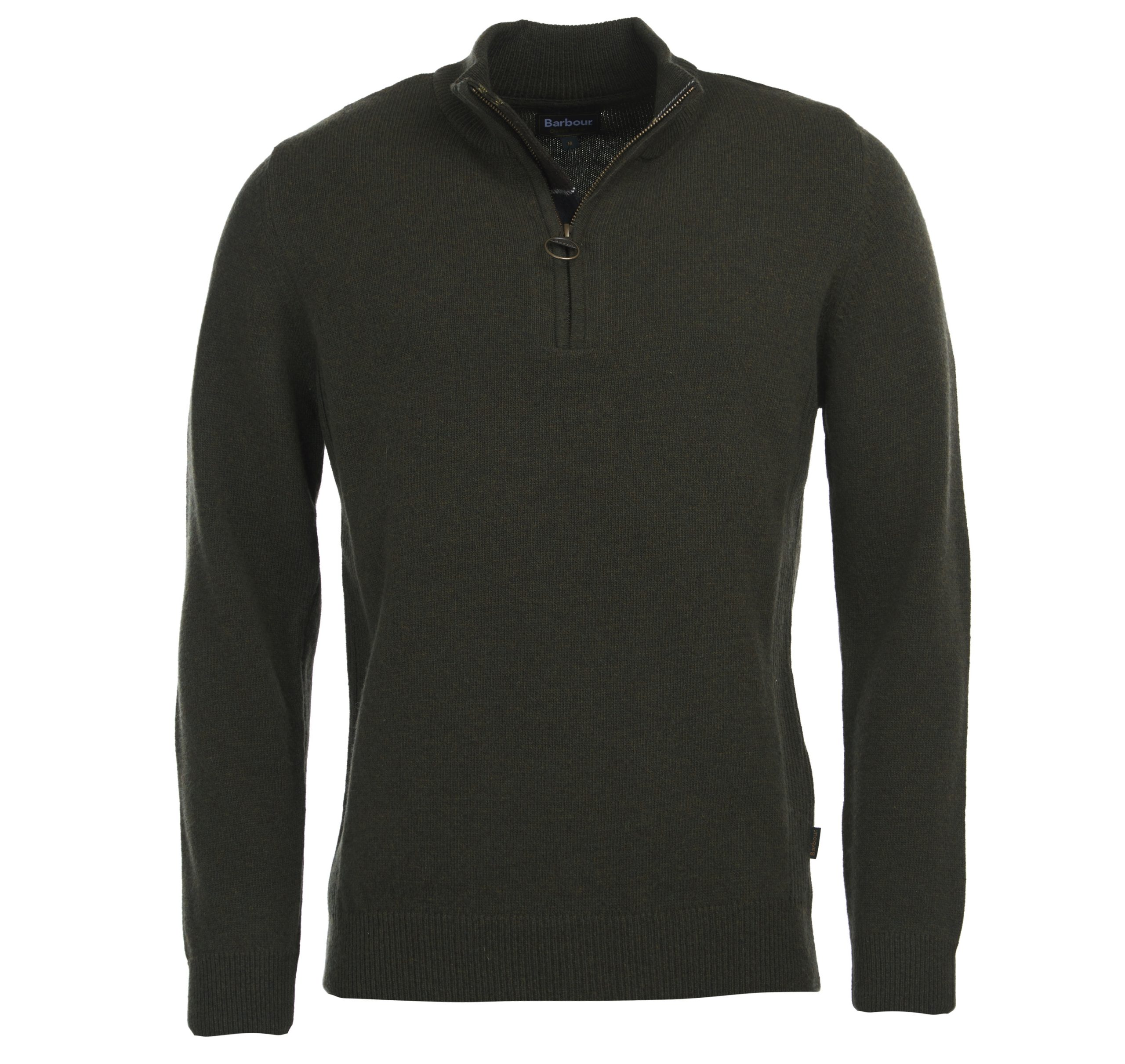 mens barbour holden half zip sweater olive green jail dornoch