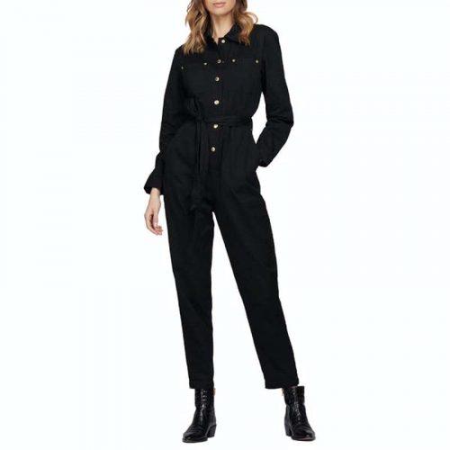 barbour international jumpsuit black jail dornoch
