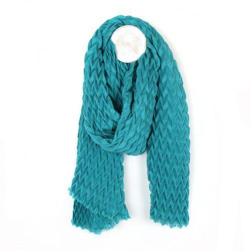 chevron textured scarf teal jail dornoch