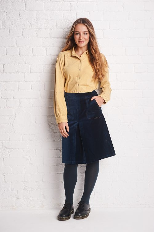 multi stitch moleskin skirt insigna blu jail dornoch