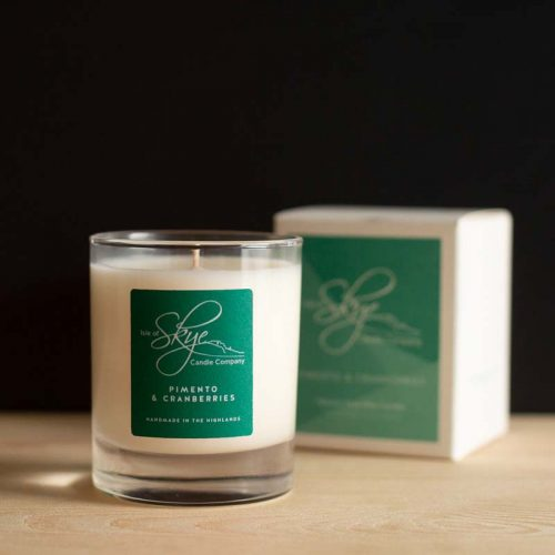 skye candles pimento and cranberries jial dornoch
