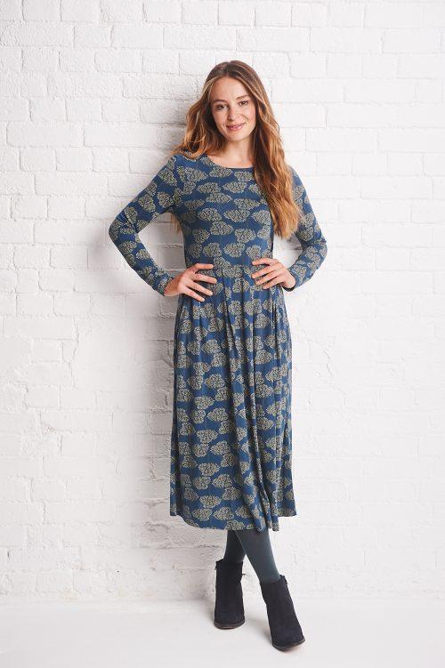 wavy dress with pleat waist mistral clothing jail dornoch