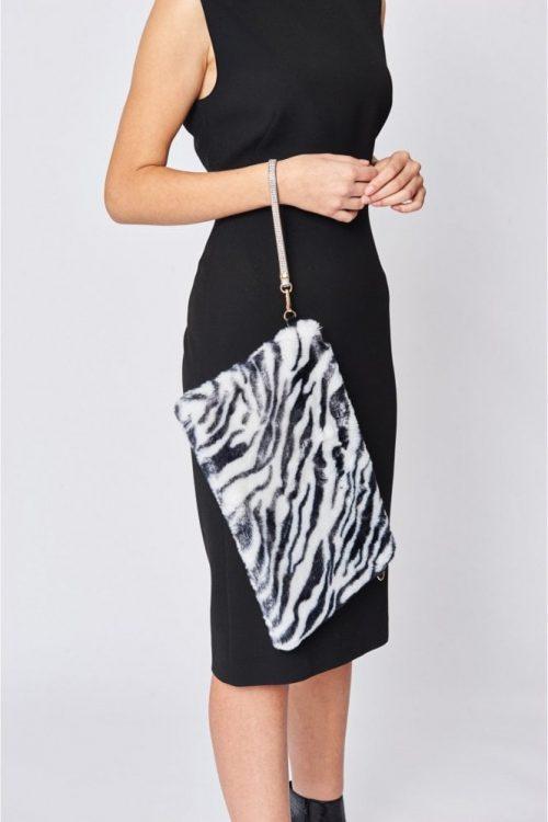 faux fur luxury bag zebra jail dornoch